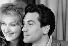 "Meryl Streep and Robert DeNiro, ""Falling In Love"", New York, NY, 1984 -- I haven't seen this yet...but I love this photo of two of my Hollywood favorites."