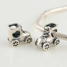 Roller Skate Sterling Silver Charms/beads for Pandora, Biagi, Chamilia, Troll and More Bracelets