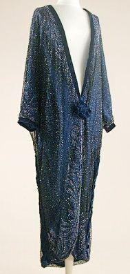 Midnight Blue Opera Coat 1920s