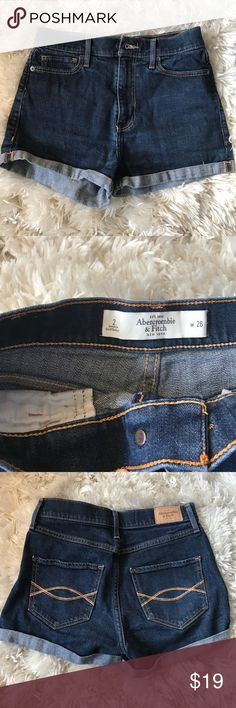 Abercrombie & Fitch High Waisted Denim Shorts In good conditions Abercrombie & Fitch Shorts Jean Shorts