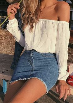 23 Super Cheap Denim Skirt Outfits, The . 23 Super Billig Denim Rock Outfits, die … 23 Super Cheap Denim Skirt Outfits to Try – out to Denim Skirt Outfits, Rock Outfits, Cute Spring Outfits, Outfits With Jean Skirt, Black Denim Skirt Outfit Summer, Outfit With Skirt, Summer Skirt Outfits, Cute Cheap Outfits, Cute Casual Outfits