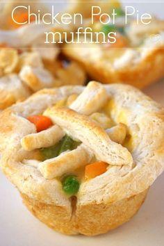Easy Chicken Pot Pie, Chicken Recipes, Chicken Meals, Cheesy Chicken, Grilled Chicken, Recipe Chicken, Baked Chicken, Calzone, Quiches