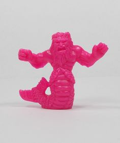 Monster In My Pocket - Series 1 - 10 Triton - Neon Magenta - Premium