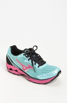 Mizuno Wave Rider 16 Running Shoe (Women) available at Workout Shoes, Workout Gear, Athletic Wear, Athletic Shoes, Mizuno Shoes, I Love To Run, Rubber Shoes, Fitness Fashion, Air Max Sneakers