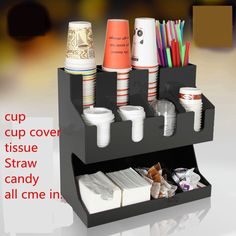 New arrival bar counter  storage shelf,acrylic  cup/cup cover/tissue/straw/ storage shelf,multifunction shelf EMS free shipping