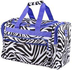 Zebra Purple Duffle Gym Cheer Bag 19