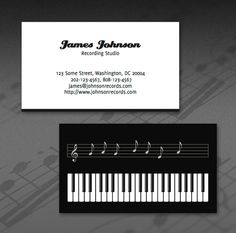255 best business card design images on pinterest business cards james johnson recording studio business card colourmoves