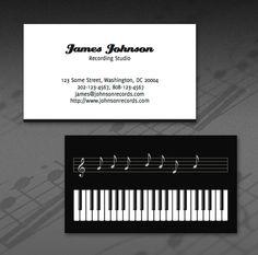 Wedding music business card | Ideas | Pinterest | Wedding ...