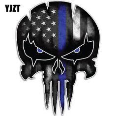 Logo Punisher, Punisher Skull Decal, Punisher Tattoo, Thin Blue Line Decal, Thin Blue Lines, Car Decals, Bumper Stickers, Vinyl Decals, Skull Stencil