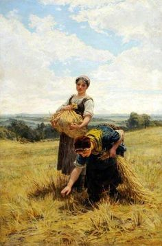Frederick Morgan ~ Gleaners, 1880 ~ (English: 1847-1927)