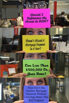 Want to Refinance and save up to $3,000/year on your mortgage payments? Those who owe less than $300,000 on their home and haven't missed a mortgage payment in the last year can use Obama's once in a lifetime mortgage relief program. The program is totally free and doesn't add any cost to your refi. Will you take advantage before it expires in December 2016?