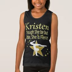 GOLD FIERCE GYMNAST PERSONALIZED TANK TOP Calling all Gymnasts! Enjoy the best selection of Gymnastics Gifts from Zazzle.  Not available in stores! http://www.zazzle.com/mysportsstar/gifts?cg=196751399353624165&rf=238246180177746410   #Gymnastics #Gymnast #Gymnastgift #Gymnastgirl