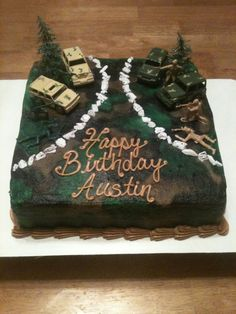Army Cake with Ammo Granade and Barb wire The Cake Witch My