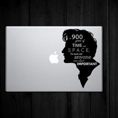 Laptop sized Dr Who Quote  in 900 years of time and by LimeWallArt, $10.00. Beautiful