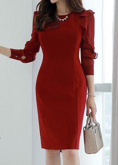 Long Sleeve Ruffle Detail Red Chiffon Dress 2019 Long Sleeve Ruffle Detail Red Chiffon Dress The post Long Sleeve Ruffle Detail Red Chiffon Dress 2019 appeared first on Chiffon Diy. Elegant Outfit, Elegant Dresses, Cute Dresses, Casual Dresses, Baby Dresses, Dresses Dresses, Classy Work Outfits, Classy Dress, Official Dresses