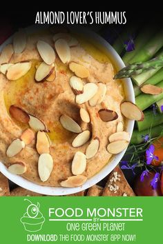 The most intriguing part of this hummus is the almond milk since you'll simmer it to create a rich almond milk reduction, enhancing the dip's creaminess and nuttiness. Potato Appetizers, Vegan Appetizers, Vegan Snacks, Appetizer Recipes, Healthy Snacks, Snack Recipes, Vegan Meals, Vegan Food, Healthy Eating