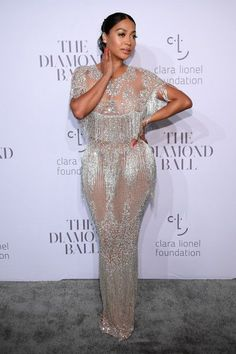 La La Anthony attends Rihanna's Annual Diamond Ball Benefitting The Clara Lionel Foundation at Cipriani Wall Street on September 2017 in New York City Older Women Fashion, Womens Fashion, Fashion Edgy, Ladies Fashion, Fashion News, Sexy Dresses, Prom Dresses, Sparkle Dresses, Prom Outfits