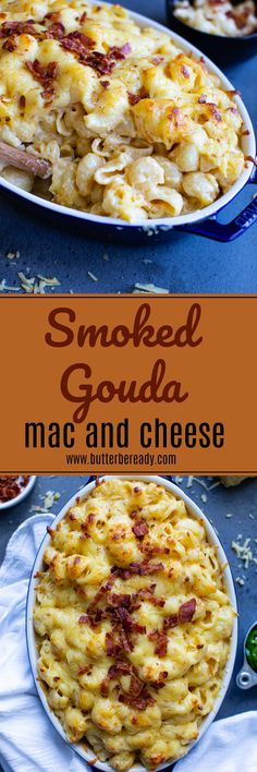 Rich, creamy, nutty, and bold; this smoked gouda mac and cheese is wildly delicious with lip-smacking flavor. Makes a great side dish for any get togethers and occasions alike! Crumbled bacon added on top takes it to another level! Cheesy Pasta Recipes, Pasta Dinner Recipes, Macaroni Cheese, Macaroni And Cheese, Macaroni Salad, Good Food, Yummy Food, Delicious Recipes, Healthy Recipes