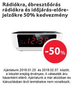Rádiókra, ébresztőórás rádiókra és időjárás-előrejelzőkre 50% kedvezmény Digital Alarm Clock