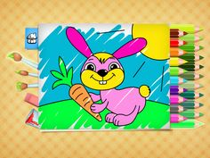 FREE Easter coloring pages - game for Kids. App on iPhone, iPad, Android. Free Easter Coloring Pages, Easter Colouring, Coloring Books, New Iphone, Apple Iphone 6, Iphone 6s Features, Apple Maps, Cool Kids, Kids Fun