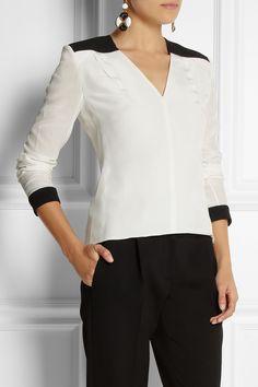 Roland Mouret | Edcora silk crepe de chine blouse | NET-A-PORTER.COM
