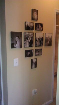 Display idea for wedding photos