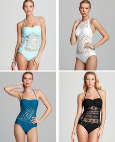 d176da7bc Super adorable!!!  swimsuit one piece. See more. Robin Piccone Crochet  Overlay Swimsuits Summer Of Love