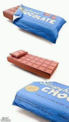 Chocolate Bar Bedding. I don't even have words to describe what owning this would make me feel.
