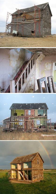 Real life doll house, art installation by Heather Benning