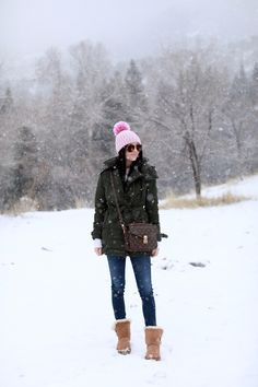 "Rach Parcell - Pink Peonies ""Snow for days."" / Stylish winter outfit for snow adventures Snow Outfits For Women, Stylish Winter Outfits, Winter Outfits For School, Fall Winter Outfits, Winter Wear, Autumn Winter Fashion, Clothes For Women, Winter Style, Winter Clothes"