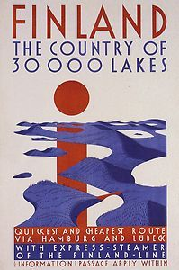FINLAND ...Land of 30,000 Lakes Poster. They have counted the lakes again, we have much more of them!