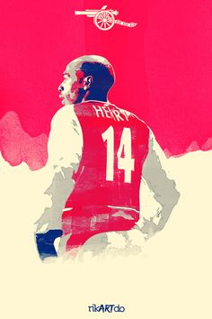 Thierry Henry - Highbury Legend by Ricardo Mondragon, via Behance Arsenal Football Club, Aubameyang Arsenal, Arsenal Players, Football Icon, Football Is Life, Football Art, Thierry Henry, Soccer Art, Soccer Poster