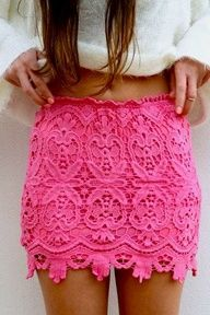 i want this so so bad pink lace skirt