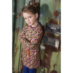 KIDZ-ART kinderkleding   KIDZ-ART - Tops AW17 - Kidz-art jurk multi triangle K707   Webshop samsamkinderkleding.nl