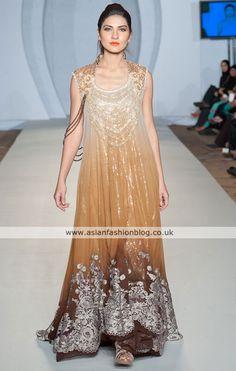 #Pakistani fashion brown yellow while gold