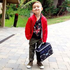 4 Year Old Alonso Mateo, Knstrct's resident kidswear expert