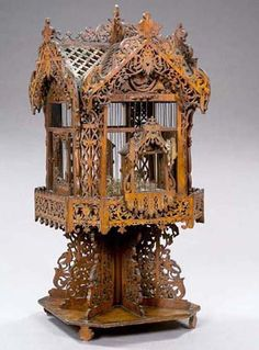 FOLK ART BIRDCAGE