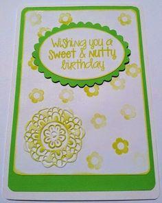 gr: Wishing you a sweet & nutty birthday Wish, Creations, Birthday, Sweet, Candy, Birthdays, Dirt Bike Birthday, Birth Day