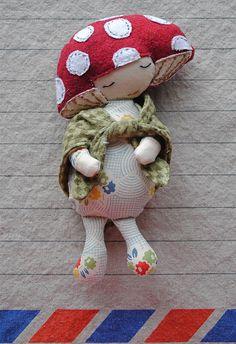 mushroom head doll how sweet she is....
