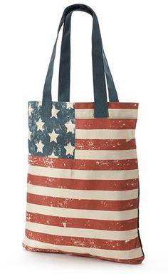 SO® American Flag Tote