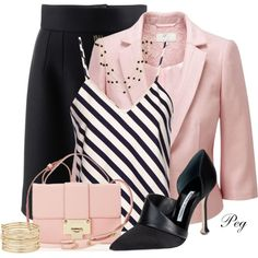 Pink and Black by derniers on Polyvore featuring Harvey Faircloth, CC, Dolce&Gabbana, Manolo Blahnik, Jimmy Choo, Nine West and 1928