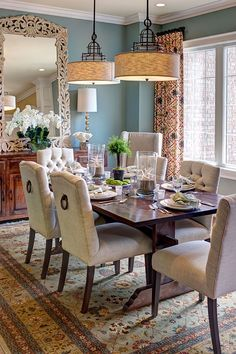 Ordinaire Stunning Dining Setting With Merridian Sideboard And Quixote Dining Table.