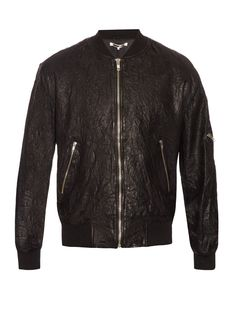 Creased-effect leather jacket  | McQ Alexander Mcqueen