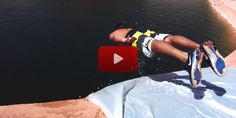 This Slip-N-Slide Leads To a 50-Foot Drop Off a Cliff. Would YOU Try It??