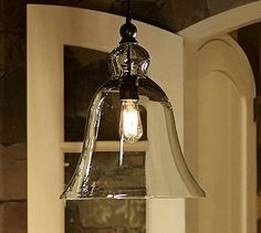 Pottery Barn - Rustic Glass Pendant (Large)