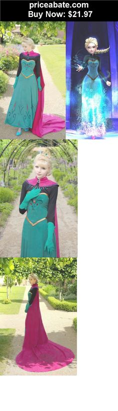 Women-Costumes: New Adult Women Princess Frozen Elsa Costume Cosplay Stage Halloween Party Dress - BUY IT NOW ONLY $21.97
