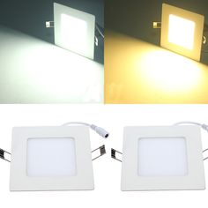 8W Square Ceiling Panel White/Warm White LED Lighting AC 85~265V