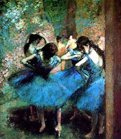 Degas loved the use of fuper bright pastels... yellows, pinks, oranges and blues.... makes me want to go shopping for some bright colored clothes!