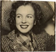 Marilyn Monroe, photo booth self-portrait while she was still Norma Jeane Baker, circa 1940 steroge will do