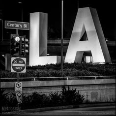 Framed Black and White prints of Century Boulevard at Los Angeles International Airport